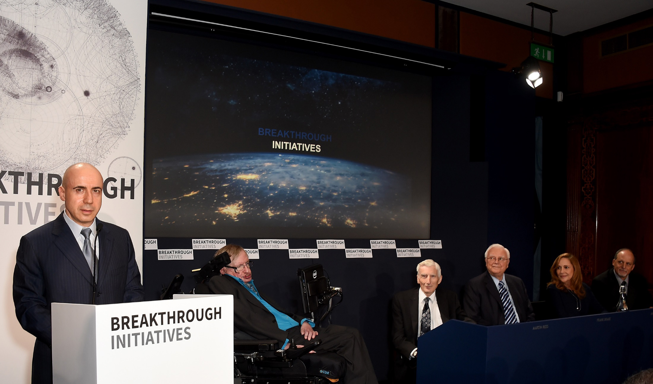 Stephen Hawking, Yuri Milner Unveil Breakthrough Listen