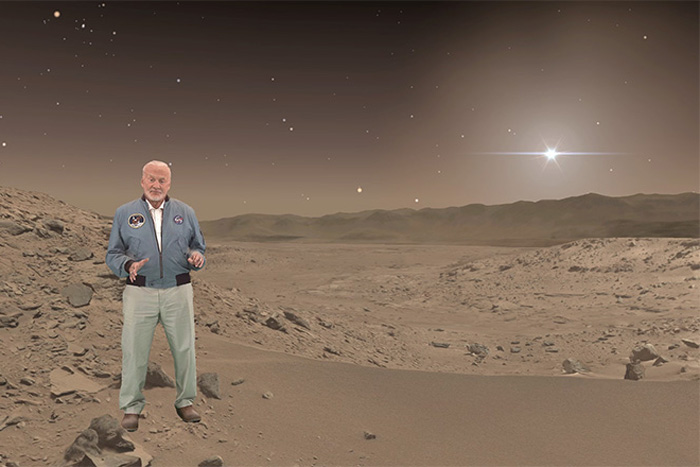 "Buzz Aldrin ""on Mars"""