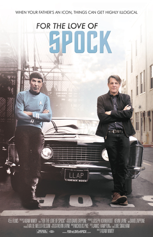For a Love of Spock is a documentary about a life of Leonard Nimoy, Spock on Star Trek, saved by fans by Kickstarter.