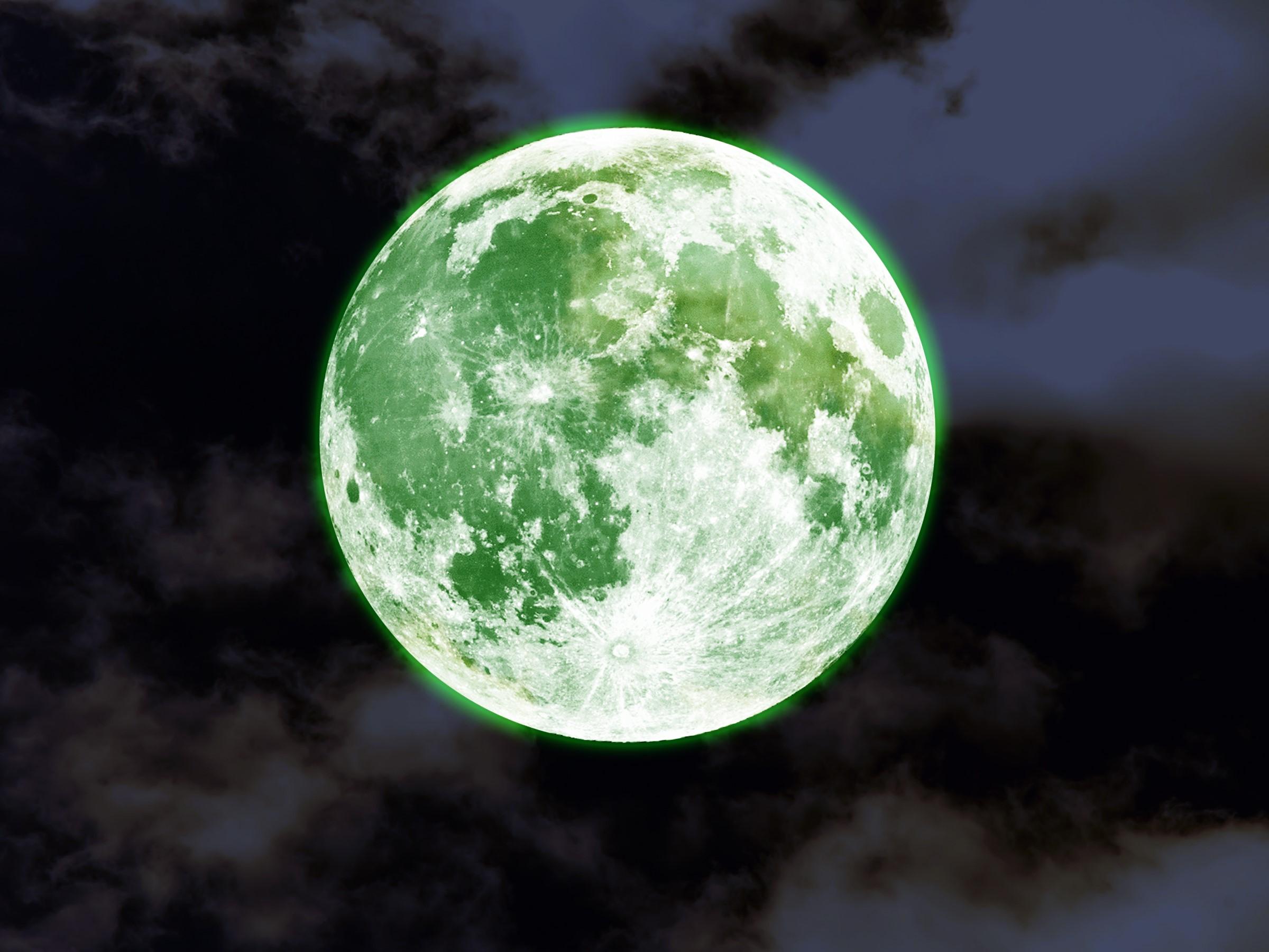 The moon will turn green.