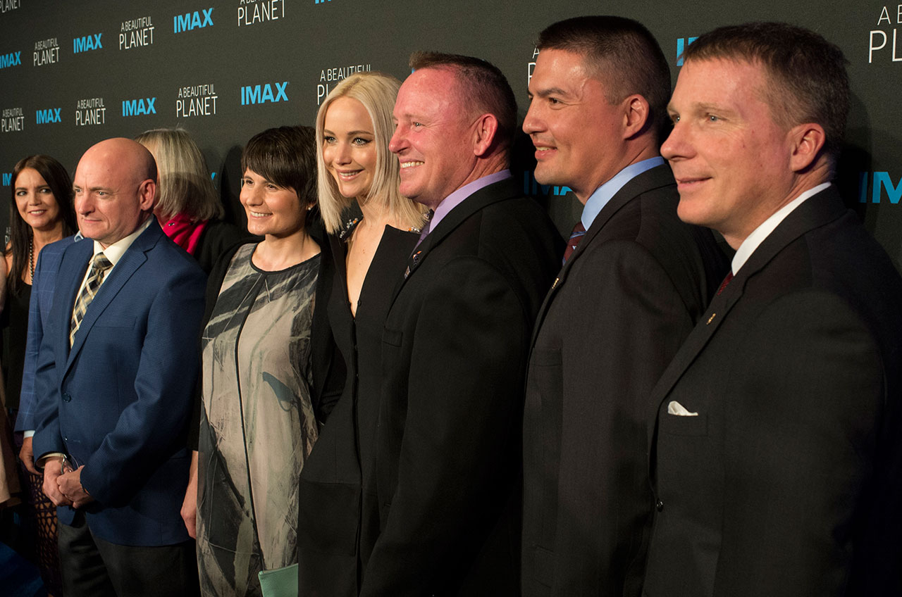 Jennifer Lawrence at 'A Beautiful Planet' Premiere with Astronauts