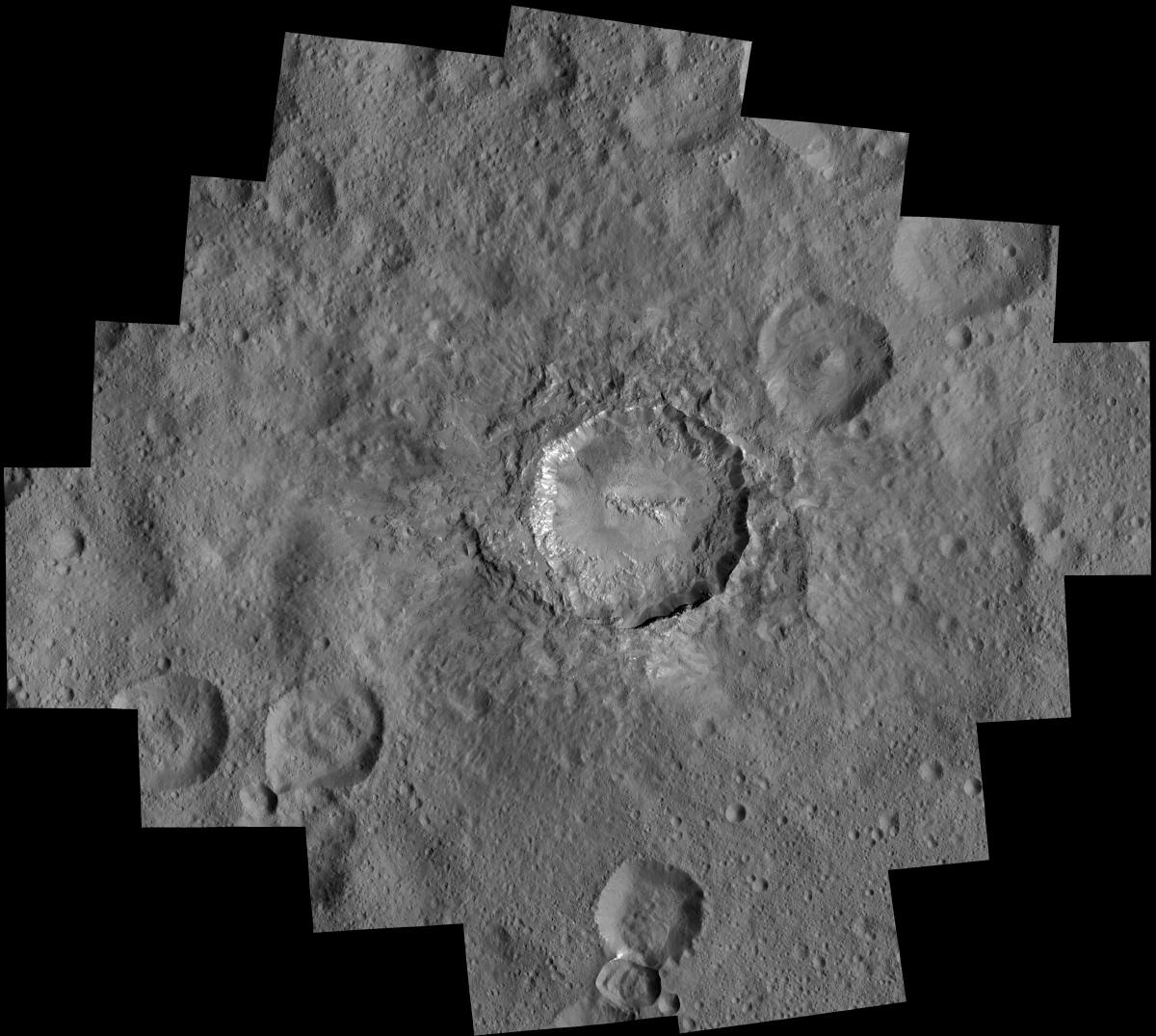Ceres' Haulani Crater Mosaic
