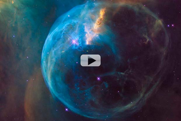 Hubble Snaps Bubble for Launch Anniversary | Video