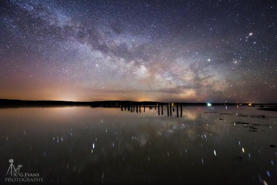 Milky Way Over Maine's Penobscot River Captured in Stunning Photo