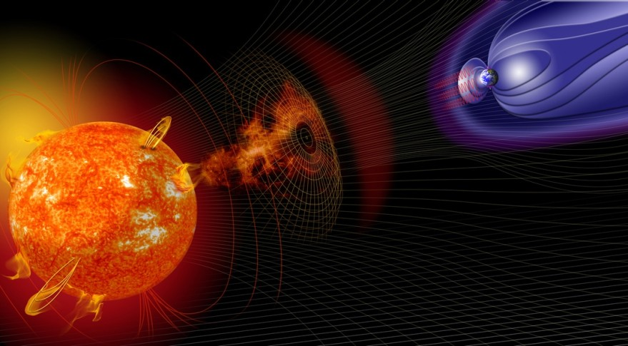 Solar Storm Illustration