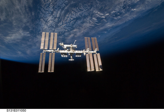 The International Space Station as seen in a photo taken in 2010.