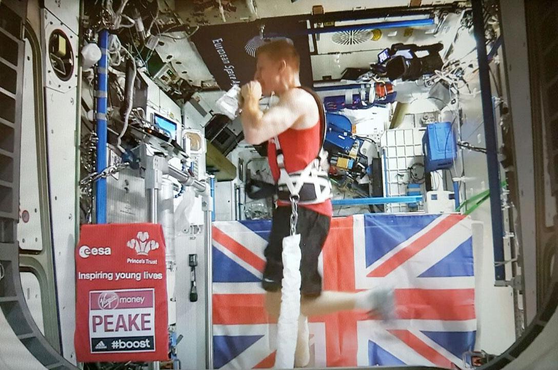 Un astronauta corrió el Maratón de Londres en una estación espacial