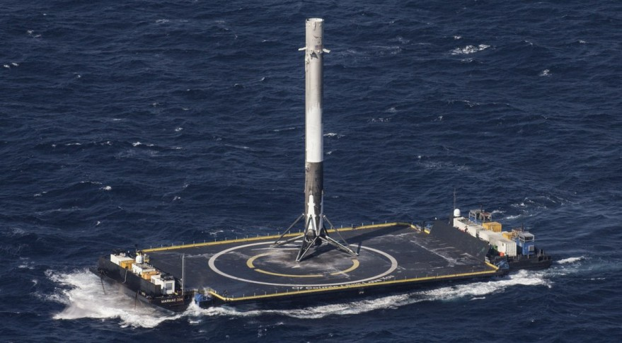 SpaceX's Falcon 9 Full Thrust rocket lands on drone ship