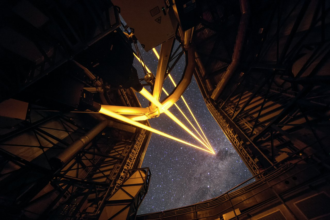 The Four Laser Guide Star Facility in Chile
