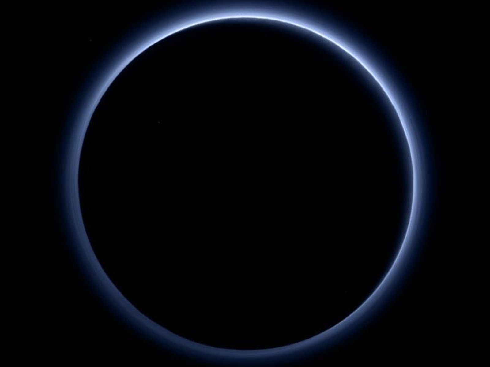 Pluto's Glowing Halo | Space Wallpaper
