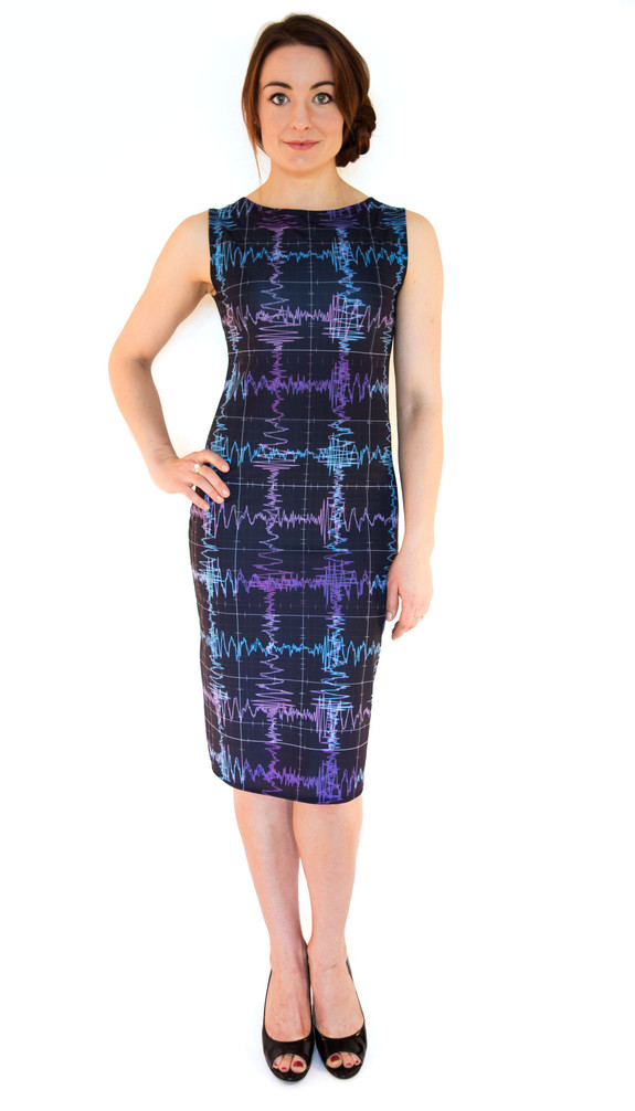 "Make waves in space and time in this dress celebrating the incredible discovery made earlier this year. <a href=""http://shenovafashion.com/products/gravitational-waves-dress?variant=16590956423"" rel=""nofollow"" target=""_blank"">Buy Gravitational Waves Dress</a>"