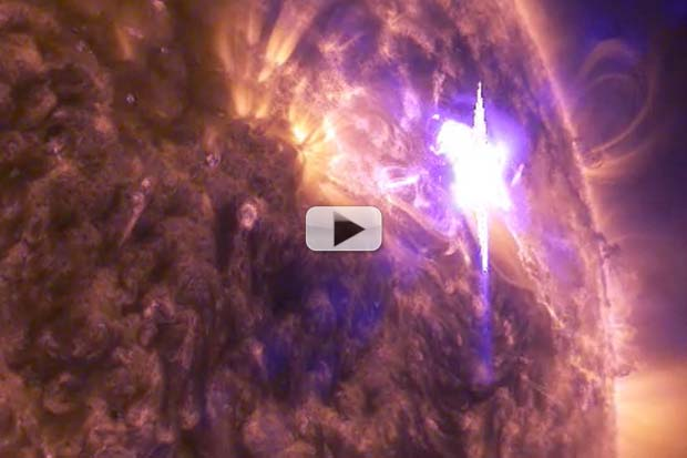'Heart-Shaped' Sunspot's Big Blast Displayed in NASA UHD Montage | Video