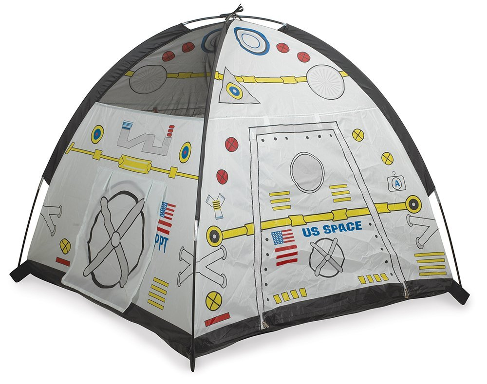A small tent looks like a spaceport