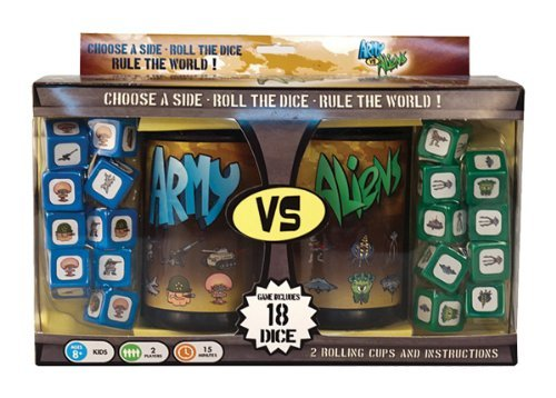 """Attack or defend the Earth in this fast-paced dice game that will keep kids and adults engaged. <a href=""""http://store.space.com/army-vs-aliens-dice-game.html?&ICID=SPACE-kids-gifts-2016"""" rel=""""nofollow"""" target=""""_blank"""">Buy Army vs. Aliens Dice Game</a>"""