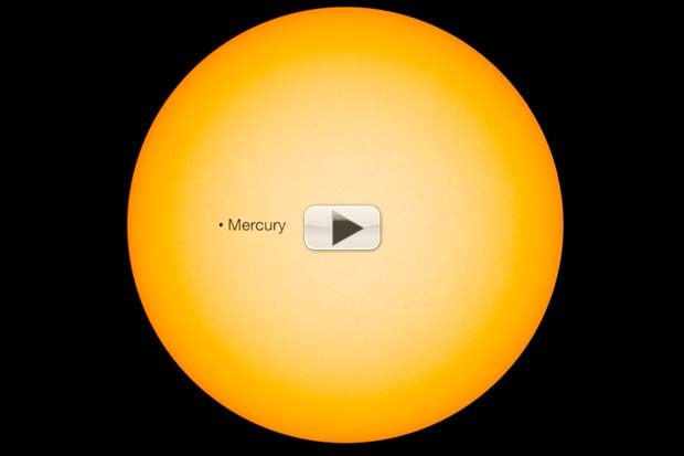 Mercury Transits The Sun And Mars Is Close In May 2016 Skywatching | Video