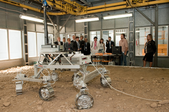 ExoMars Rover prototype demonstration 2010