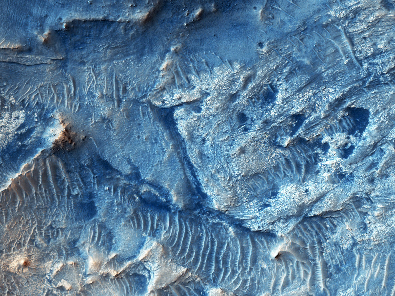 Mars' Jezero Crater | Space Wallpaper