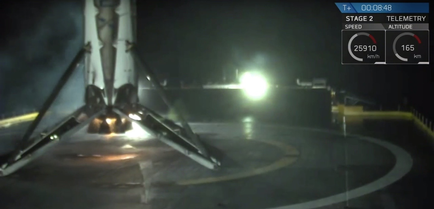 SpaceX's Falcon 9 Rocket Sticks Its Landing