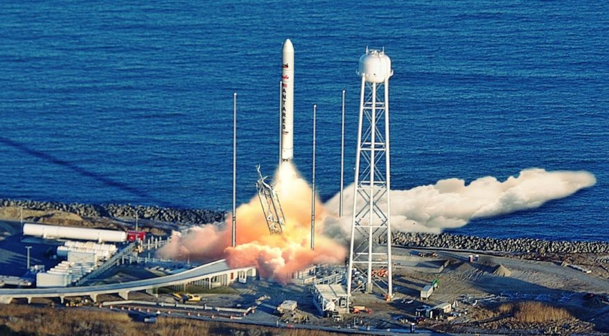 Orbital ATK Antares rocket launch