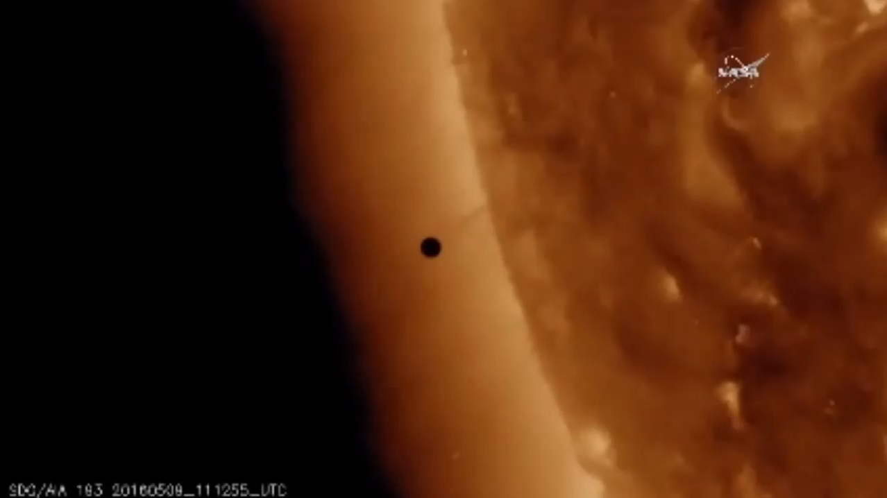 The Transit of Mercury Across the Sun's Face Has Begun: First Videos