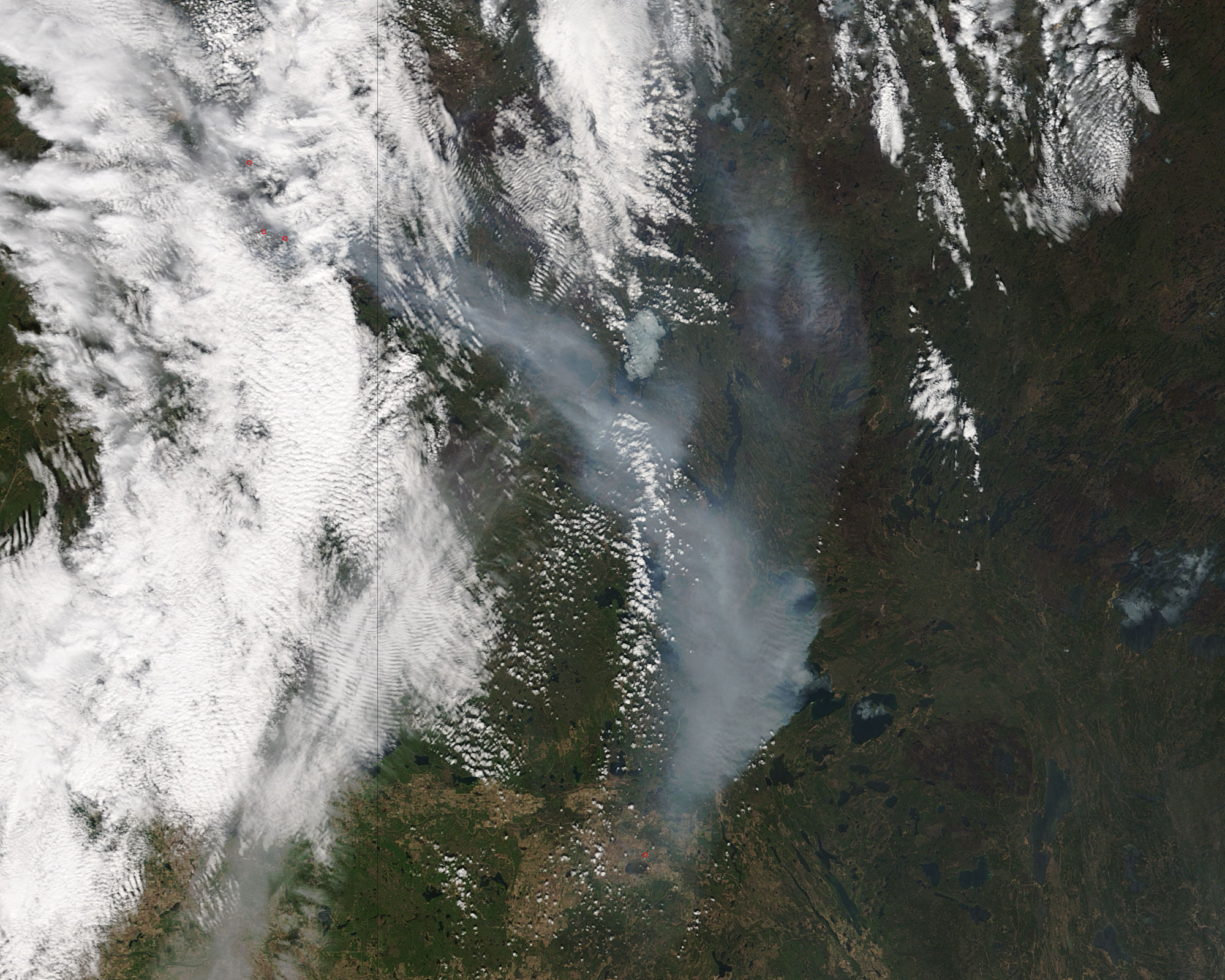 Canadian Wildfire from Space 1