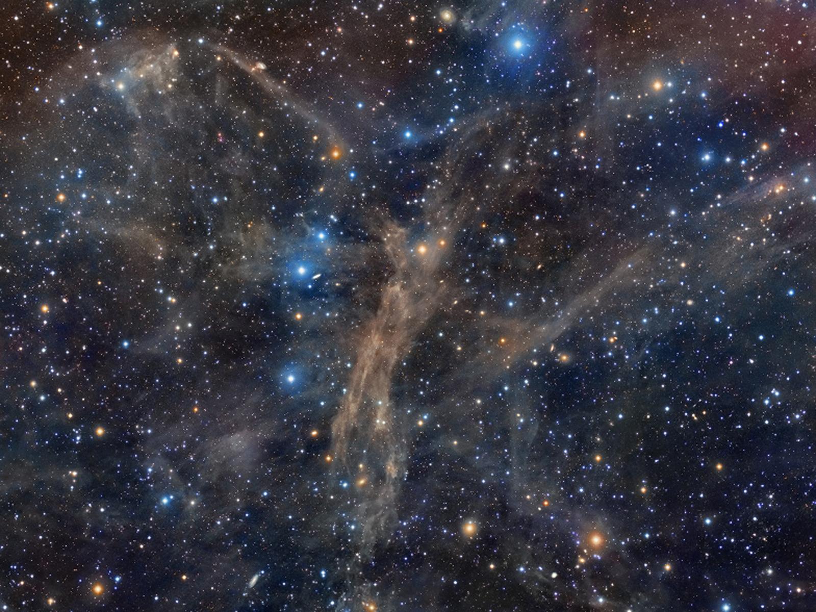 Cosmic Dust Angel   Space Wallpaper