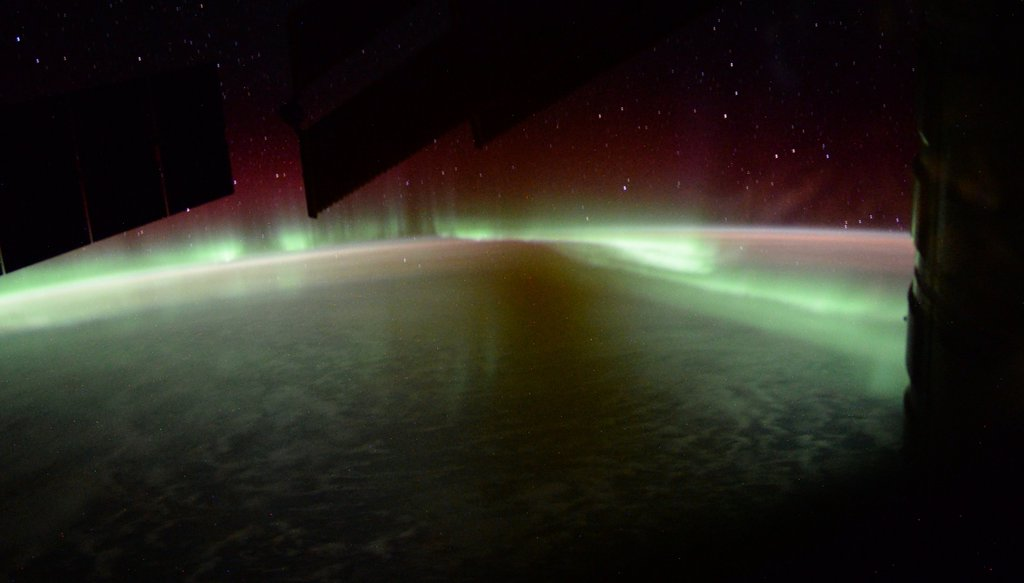 Aurora 'Flames' from Space