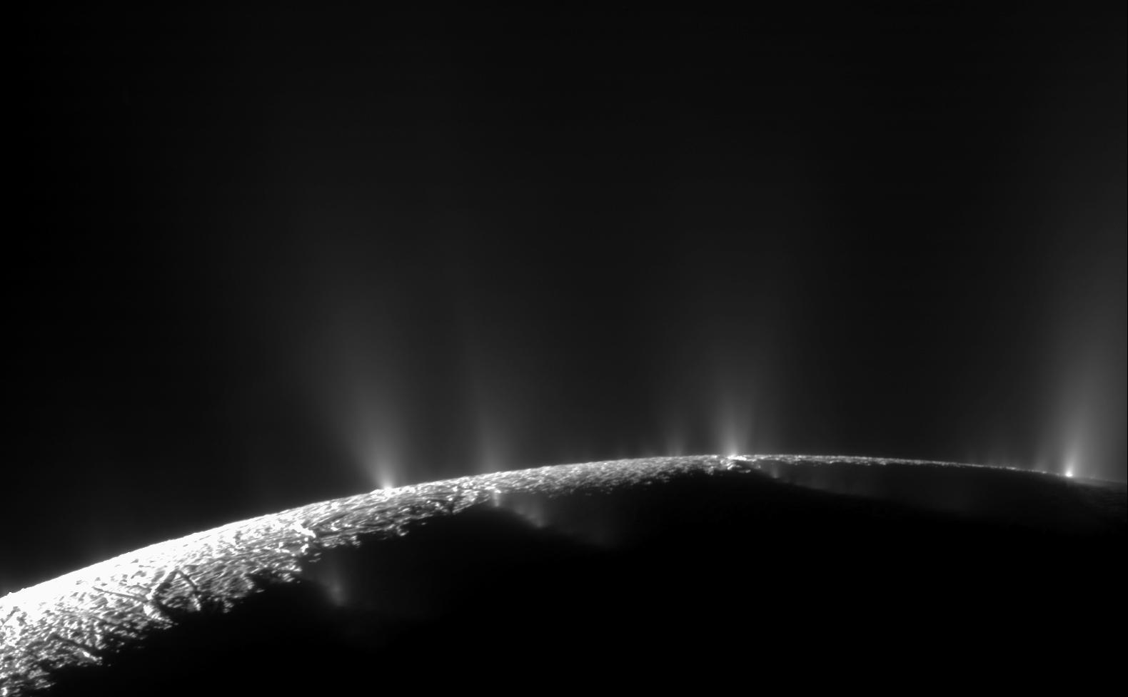 Surprising Geysers on Saturn Moon Enceladus Hint at Plumbing Mystery