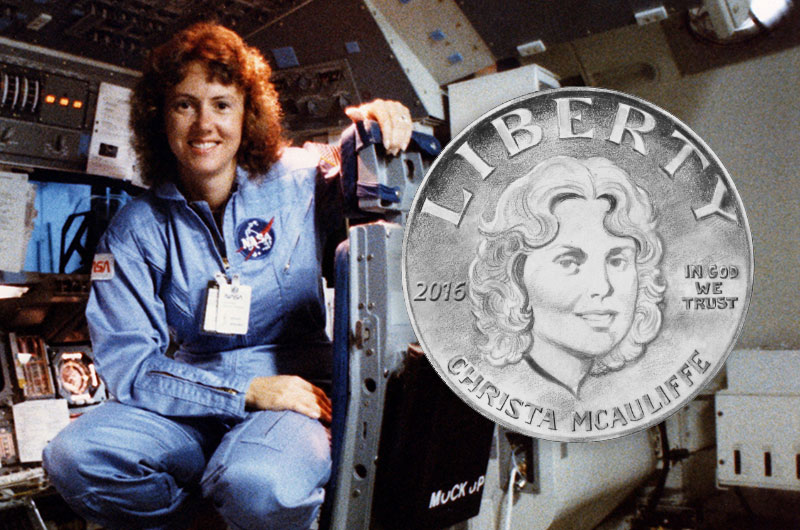 Christa McAuliffe coin