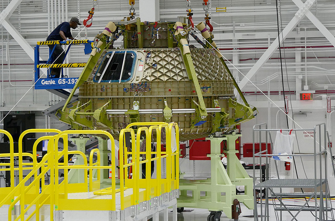 Boeing's first CST-100 Starliner hull