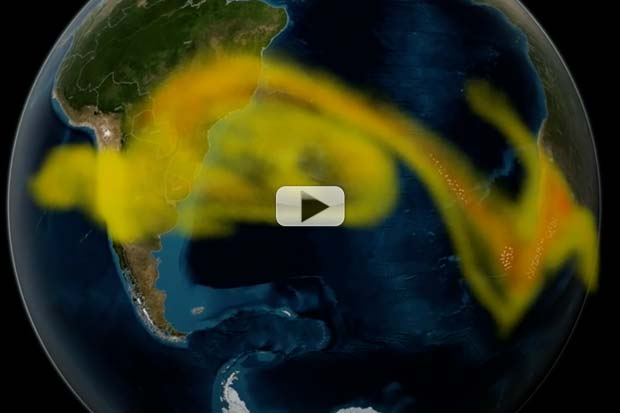 Volcanic Ash Clouds Tracked By Satellite To Keep Planes Flying   Video