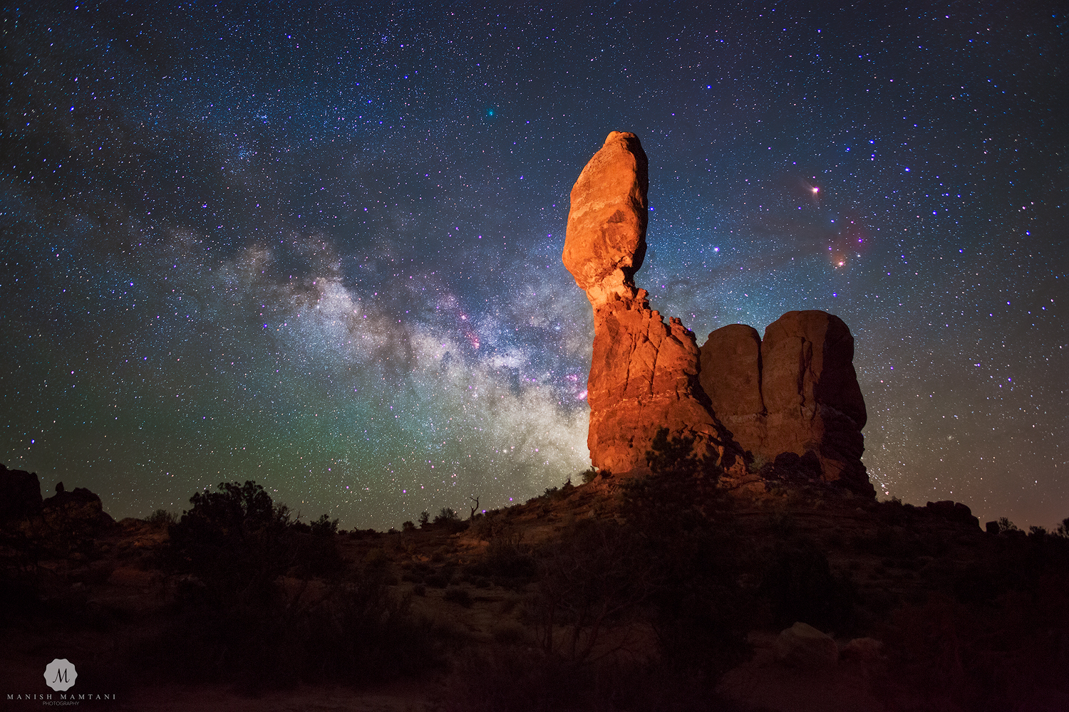 Milky Way Glitters Over Arches National Park