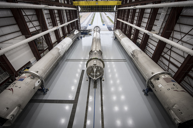 SpaceX's 3 Landed Rockets in the Hangar: 1