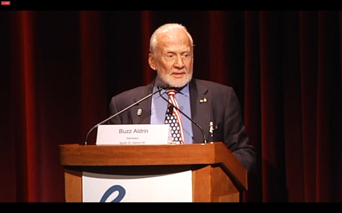 Buzz Aldrin at Humans to Mars Summit 2016