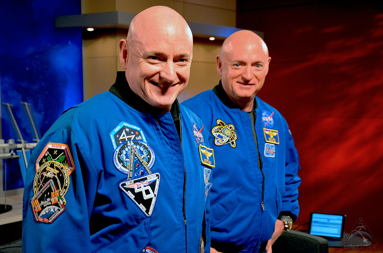 Astronauts Scott and Mark Kelly