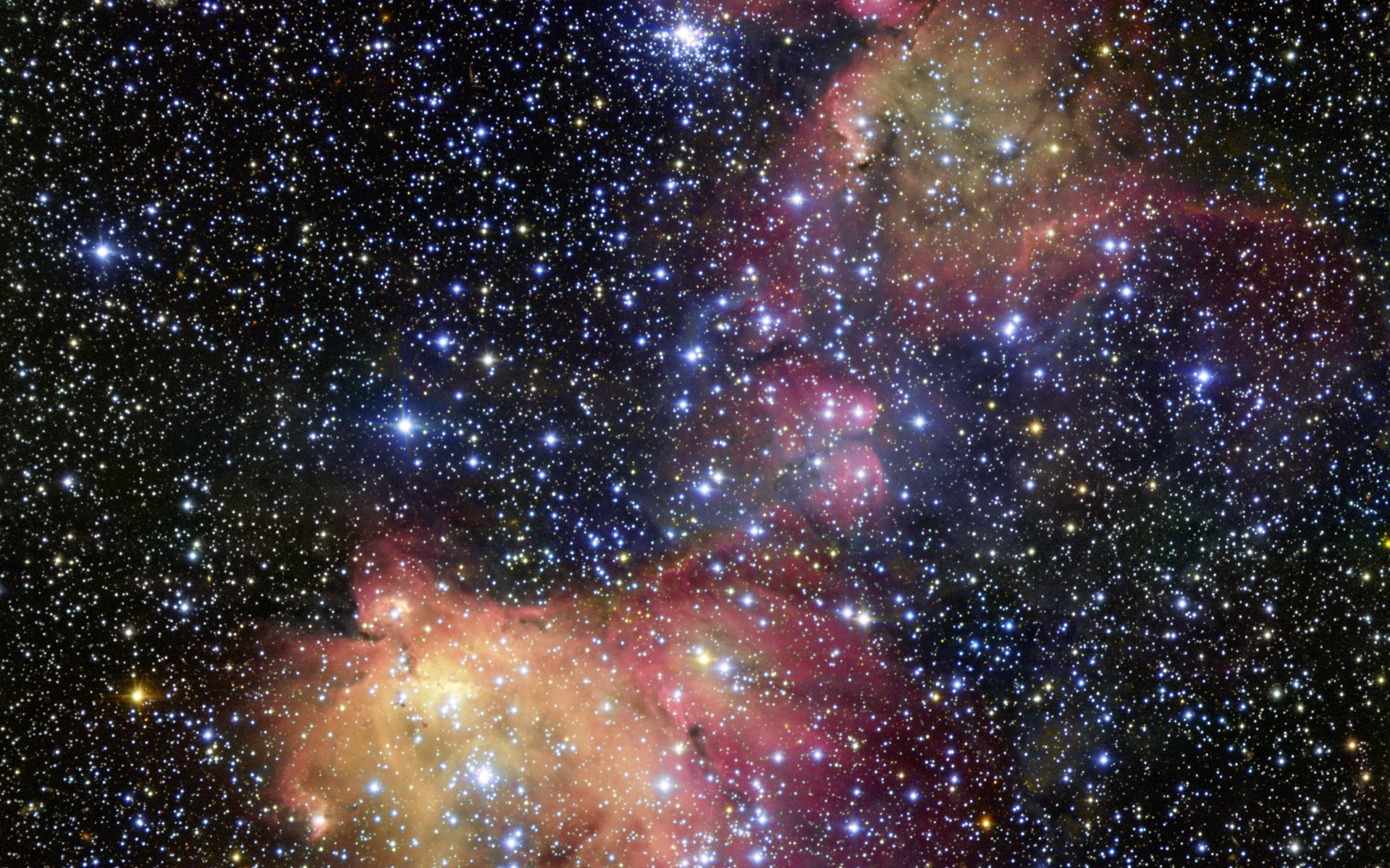 Glowing Gas of Large Magellanic Cloud