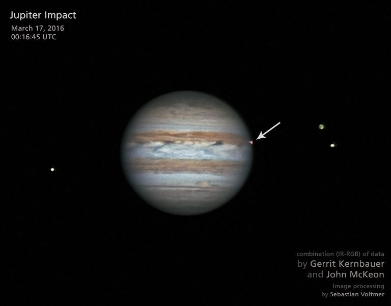 Jupiter Fireball of March 17, 2016
