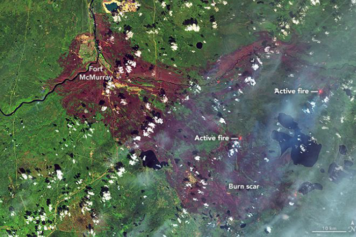 Canada Wildfires: Burn Scar Seen in NASA Photo