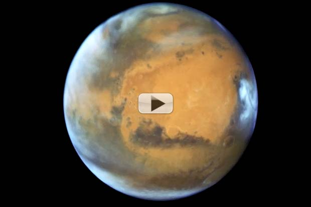 Hubble Spies Mars Days Before Closest Approach In Over A Decade | Video