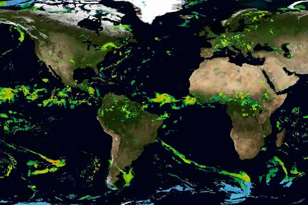 Satellite Swarm Delivers Worldwide Precipitation In Most Detail Yet   Video