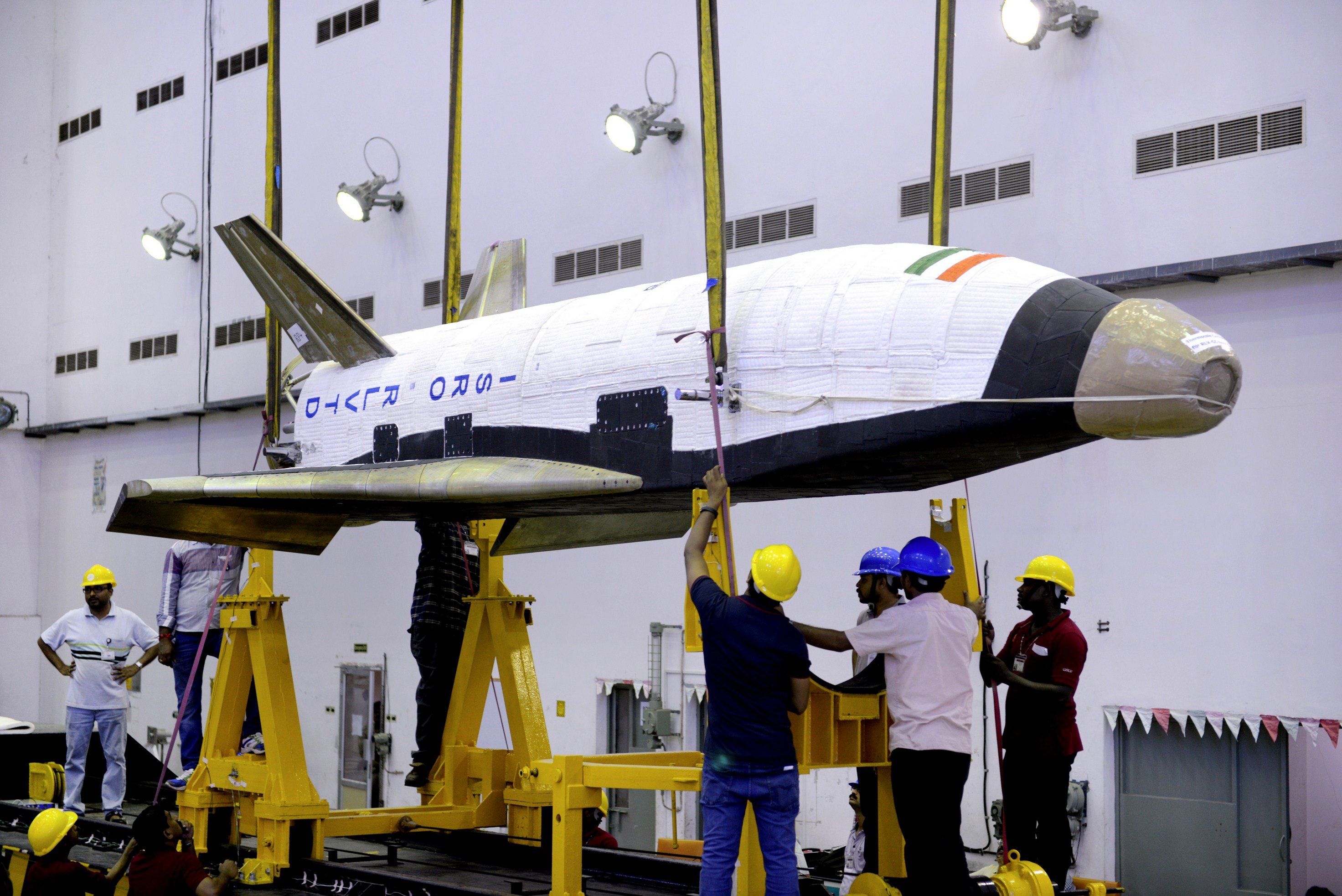 On May 23, 2016, India launched the first test flight of its Reusable Launch Vehicle Technology Demonstrator, a winged, unmanned spacecraft that resembles a miniature space shuttle.