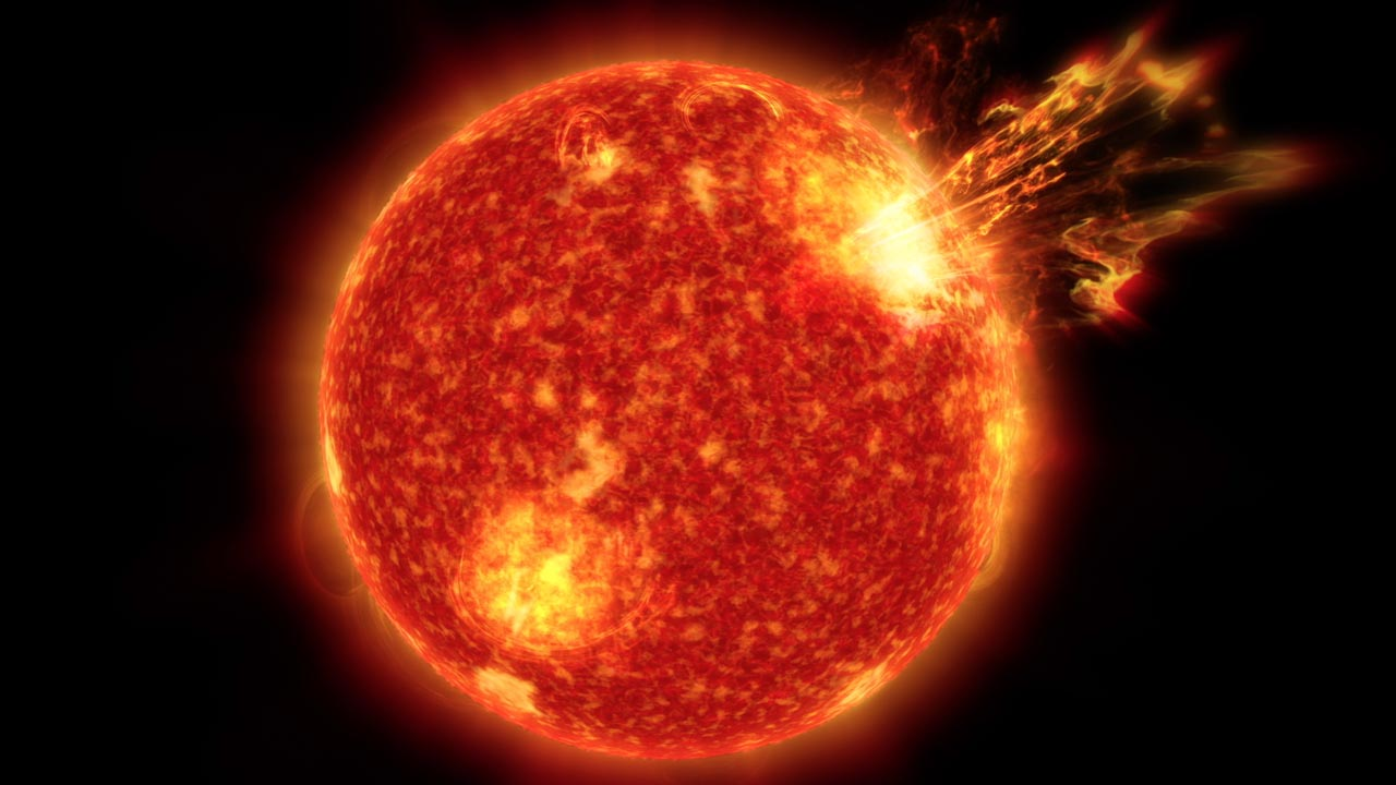 Superflares from the Sun May Have Sparked Life by Warming Earth