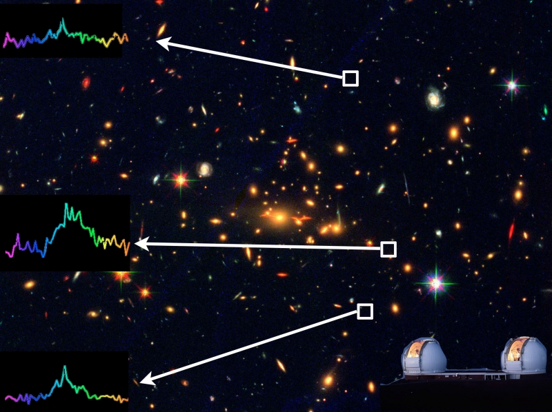 Light Bending Trick Reveals Supremely Old, Faint Galaxy