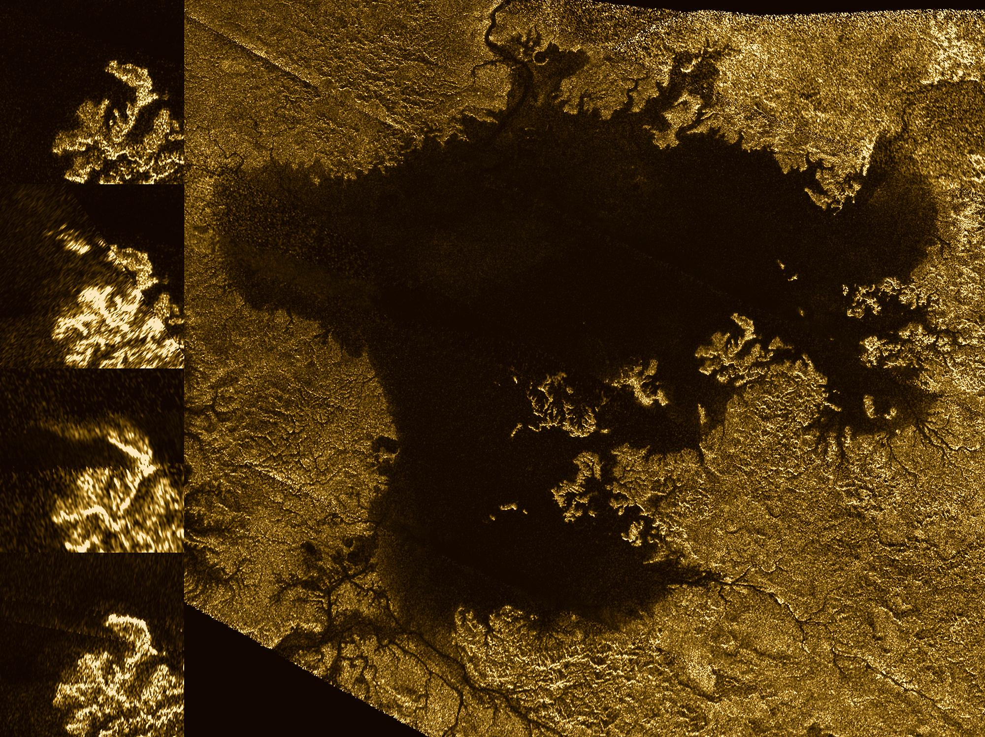 Transient Feature on Saturn Moon, Titan