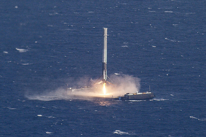 Falcon 9 Ocean Landing Image
