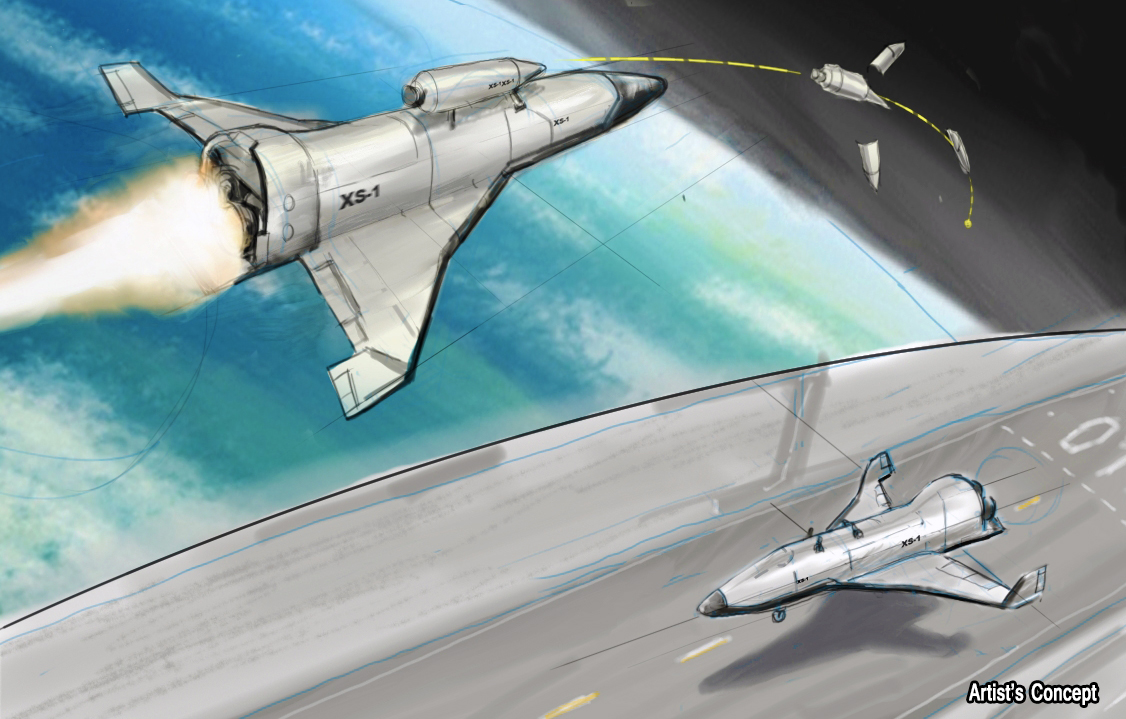 Artist's Concept of DARPA's XS-1 Vehicle Image