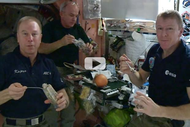 Space Station Astronauts Eat Rice And Beans Prepared By High Schoolers | Video