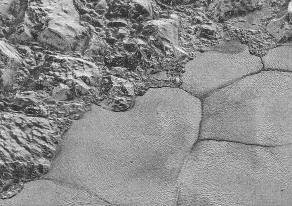 Pluto's Mountains, Icy Plains: Best View Yet