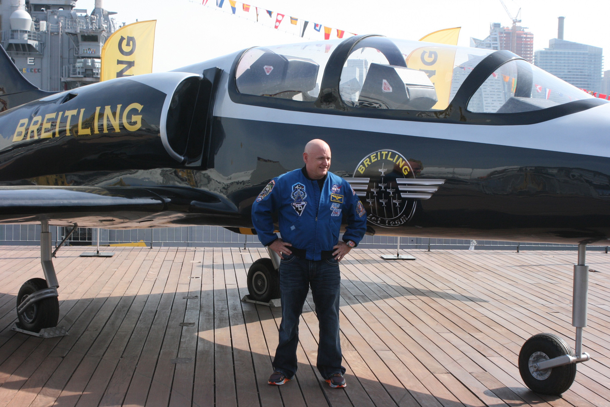 Yearlong-Mission Astronaut Scott Kelly Honored at NYC's Fleet Week