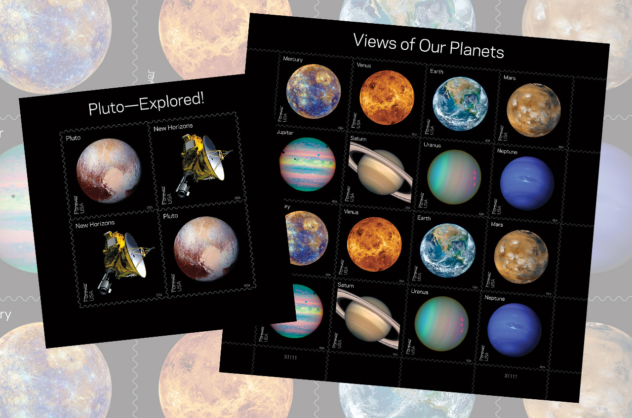 Planets and Pluto Stamps release